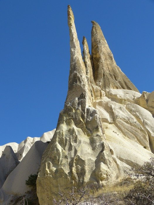 tufa rock formations landscape turkey