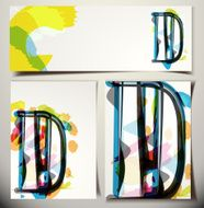 Artistic Greeting Card Letter D
