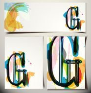 Artistic Greeting Card Letter G