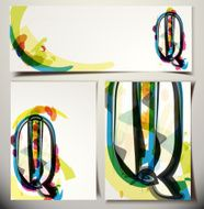 Artistic Greeting Card Letter Q