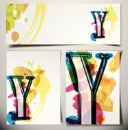 Artistic Greeting Card Letter Y
