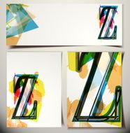 Artistic Greeting Card Letter Z