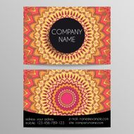 business card from patterns N13