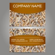 stylish business card template N2