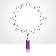 Purple Pencil Drawing Pointed Starburst Speech Balloon