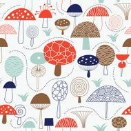 Seamless pattern with mushrooms N4