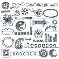 Hand-Drawn Sketchy Doodles Icon Set