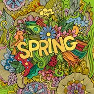 Spring hand lettering and doodles elements N3