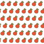 Seamless backgrounds with hand drawn apples