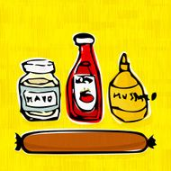 Hot dog Sauces and a Wiener