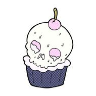 comic cartoon halloween cup cake