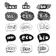 Ecology doodles icon set N2
