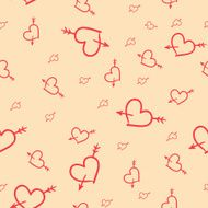 Valentine seamless pattern of hearts N3