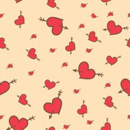 Valentine seamless pattern of hearts N4