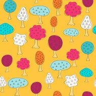 Garden pattern with different fruit trees N2