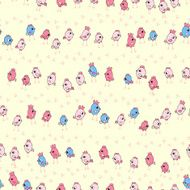 cute little chicks seamless pattern N2