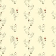 chickens seamless pattern
