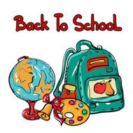 Back to school education icons cartoon set N5