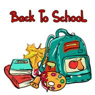 Back to school education icons cartoon set N6