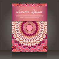 flyer with abstract colorful patterns N3