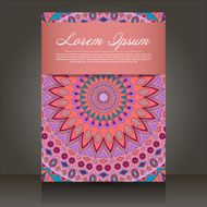 flyer with abstract colorful patterns N5