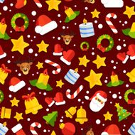 colorful seamless christmas background
