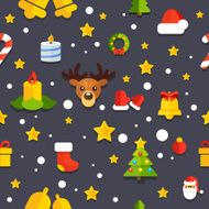 NYChristmasPatternBackgroundGray