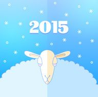 Sheep and Snow New Year Card