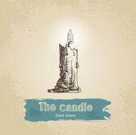 Hand drawn candle N2