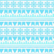Christmas seamless boarders pattern
