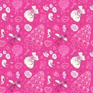 Seamless wedding patterns