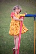 blond girl child playing