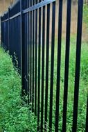 protection metal fence palisade black strong