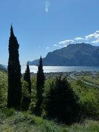 landscape of of Lake and Garda mountains
