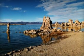 Landscape of mono lake