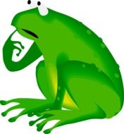 Green frog in wildlife clipart