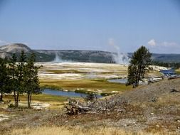 colorful scenery of Yellowstone National Park, Wyoming