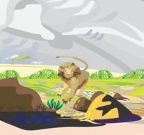 lion grasslands drawing