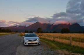 sunset new zealand the scenery road