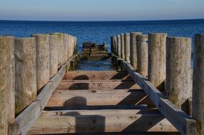 wooden jetty on the baltic sea