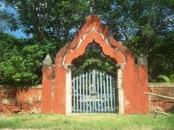 Gate in Mexico in the summer