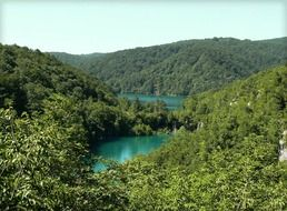 Peaceful plitvice lakes in Croatia