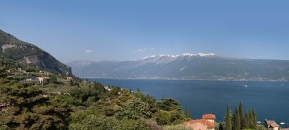 amazing garda lake italy panorama