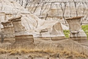 badlands sandstone rock