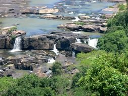 Cascading waterfalls on the river Umgeni