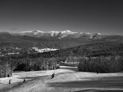 skiing downhill in New Hampshire