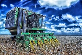 cotton harvester agriculture
