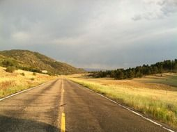 landscape of the road in Colorado