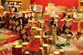 stall with jams