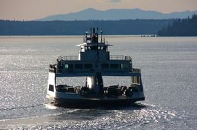 panoramic view of the ferry in the pacific harbor